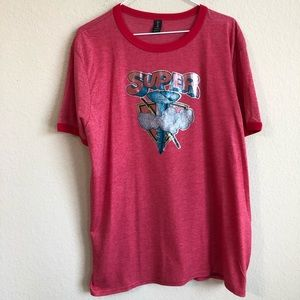 Vintage Super Screw  Iron-On On New T- Shirt NWT